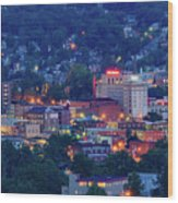 Downtown Morgantown And West Virginia University Wood Print