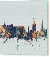 Edinburgh Scotland Skyline Wood Print