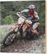 Enduro Race  Wood Print