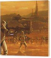 Episode 2 Star Wars Art Wood Print