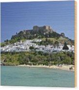 Greece Wood Print