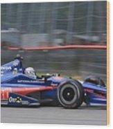 High Speed Indycar Wood Print