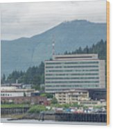 Juneau Alaska Usa Northern Town And Scenery Wood Print