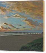 7- Juno Beach Pier Wood Print