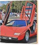 Lamborghini Countach Lp400 Wood Print