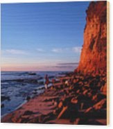 Malibu Sunrise Wood Print