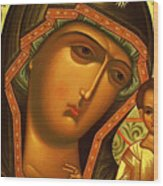 Mary And Child Art Wood Print