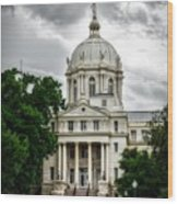 Mc Lennan County Courthouse - Waco Texas Wood Print