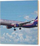 Passenger Plane Wood Print