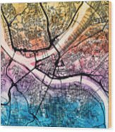 Pittsburgh Pennsylvania Street Map Wood Print