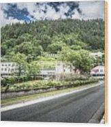 Port Of Juneau Alaska And Street Scenes Wood Print