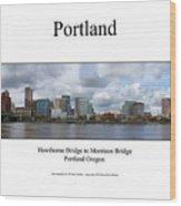 Portland Wood Print