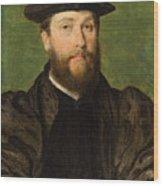 Portrait Of A Man Wood Print