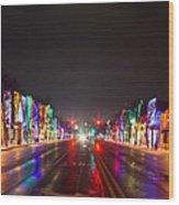 Rochester Christmas Light Display Wood Print