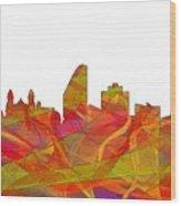 San Jose California Skyline Wood Print