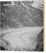 Sawyer Glacier In Tracy Arm Alaska Fjords Near Ketchikan Alaska Wood Print