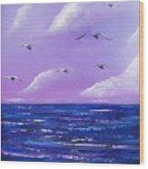 7 Seabirds Wood Print