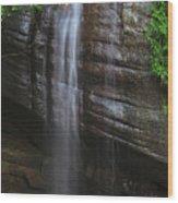 Serenity Falls Wood Print