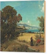 Sicilian Scene Wood Print