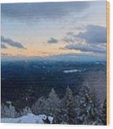Spencer Butte Winter Summit, Eugene Oregon Feb 2018 Wood Print