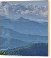 Springtime In The Blue Ridge Mountains Wood Print