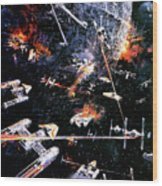 Star Wars Episode Iv - A New Hope 1977 Wood Print