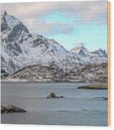 Sund, Lofoten - Norway Wood Print