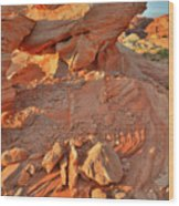 Sunrise On Valley Of Fire Wood Print