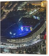 The Grateful Dead At Soldier Field Aerial Photo Wood Print