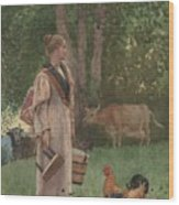 The Milk Maid Wood Print