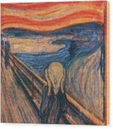 The Scream Ver 1893 Edvard Munch Wood Print