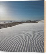 The Unique And Beautiful White Sands National Monument In New Mexico. Wood Print