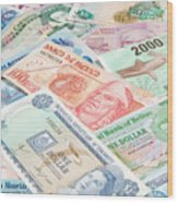 Travel Money - World Economy Wood Print