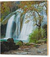 Turner Falls Wood Print