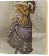 Vintage Christmas Card Wood Print