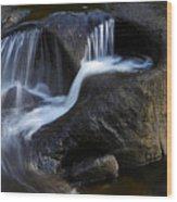 Water Flowing Wood Print