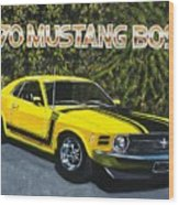 70 Mustang Boss Wood Print