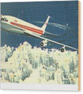 707 In The Air Wood Print