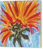 Divine Flowers Wood Print