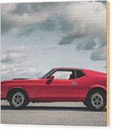 72 Mustang Wood Print