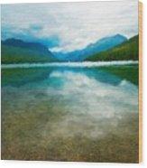 Nature Landscape Oil Wood Print