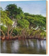 Nature Original Landscape Painting Wood Print