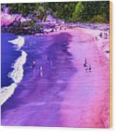 74f Bright Beach Wood Print