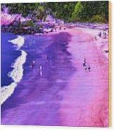74f Bright Beach Wood Print