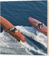 Classic Wooden Runabouts Wood Print