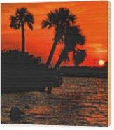 75 Island Sunset Wood Print
