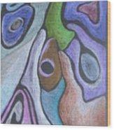 #758 Abstract Drawing Wood Print