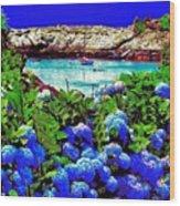 75h  Ocean Flowers Wood Print