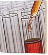 Laboratory Experiment In Science Research Lab Wood Print