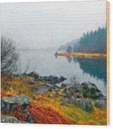 Landscape Drawing Nature Wood Print